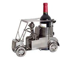 BRUBAKER Wine Bottle Holder 'Golfer In A Golf Cart' 7053