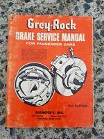 Grey-Rock Brake Service Manual For Passenger Cars 16th Edition 1970