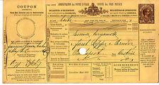 Bollettini Pacchi 1,75 cent.(10) Mod.402 B - per Budapest