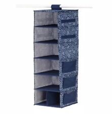 Ikea Storstabbe Hanging Storage, 7 Compartments, Blue/White Flower Pattern New