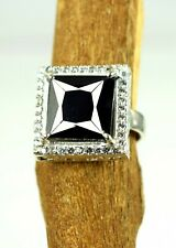 Black Diamond Solitaire With Accents Ring 8.98 Ct Certified Excellent Quality