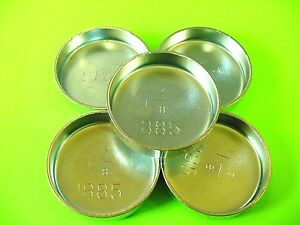 """Fit Ford 5pk 1-7/8"""" Freeze Expansion Plugs Zinc Plated Steel Engine Cylinder NOS"""