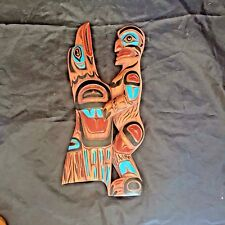 Native Art North American Indian Raven Wild Man Carving Wood Folk Coastal