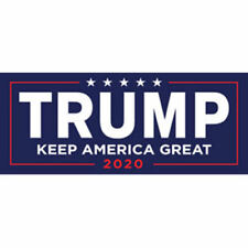 Donald Trump For President 2020 Bumper Sticker Keep Make America Great Decal