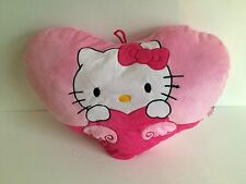 "Plush Hello Kitty heart shaped pillow Sanrio 19"" x 14"" Great Valentines day gift"