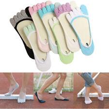 Women No Show Low Cut Toe Socks Summer Casual Invisible Five Fingers Socks
