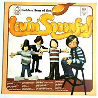 THE LOVIN' SPOONFUL - Golden Hour 1977 Vinyl LP Pop/Psych Rock VG+/VG+