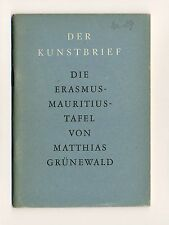 La Erasmus-MAURIZIO-TAVOLA DI Matthias verde foresta arte lettera Gebr. uomo 1947