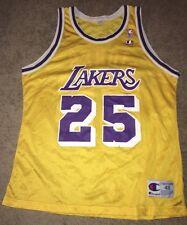 LA Lakers VTG Rare 95-96 Eddie Jones Rookie Champion Jersey, Kobe Bryant
