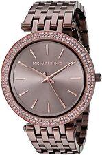 Michael Kors Women's MK3416 'Darci' Crystal Brown Stainless Steel Watch