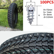 100 Pcs Steel 15mm Screw In Tire Stud Spikes Snow Chains Studs FOR Car Off-Road