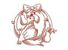 12 DAYS OF CHRISTMAS REDWORK - 24 MACHINE EMBROIDERY DESIGNS