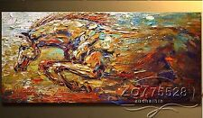 Hand-painted thick oil Palette knife Animal HORSE Oil Painting NO Frame