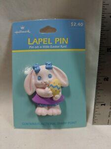 Lot Of 7 Hallmark Easter Lapel Pins Rabbits Bunnies