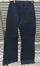 NEW Navy Denim Dunarees Bell Bottoms size 27R