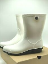 WOMEN UGG Sienna Rain Boot White (1014452W BLC), Sz 11.0 ,100% AUTHENTIC