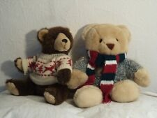 Two friends -Teddy bear and Grizzly bear ready for winter