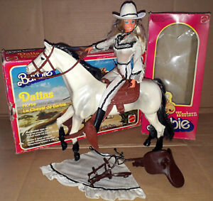 Vintage 1979 Mattel Western Barbie & Dallas Horse Europe Exclusive Variant Boxed