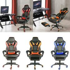 Racing Gaming Chair High Back Chair Ergonomic Design Computer Chair w/Footrest