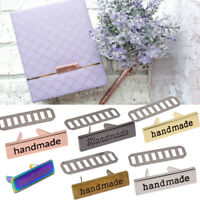 10pcs Rectangle Metal Handmade Garment Labels Tags For Clothes Bag Sewing Tool