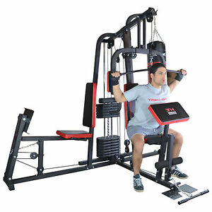 TrainHard® Kraftstation Fitnessstation Fitnesscenter Hantelbank m. 65kg Gewicht