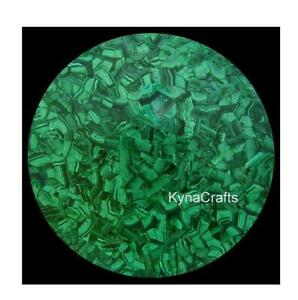 18 Inches Marble Coffee Table Top Malachite Stone Inlay Work End Table for Home
