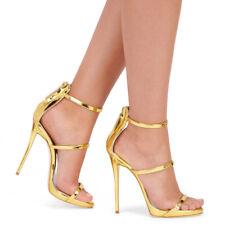 Sandalias de verano para mujer abierto OO Stilettos cremallera trasera Patry Zapatos De Moda De Color