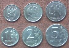 3 MÜNZEN - 1, 2, 5 RUBEL MÜNZEN/COINS RUßLAND 2007 SPMD, 1997 SPMD, 1998 SPMD