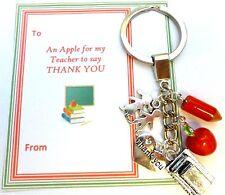 """""""Apple Para Profesor"""" Llavero regalo de agradecimiento final a largo plazo de tarjeta de regalo en Bolsa De Regalo"""