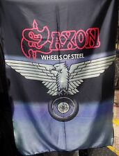 SAXON Wheels of Steel FLAG CLOTH POSTER WALL TAPESTRY BANNER CD Heavy Metal