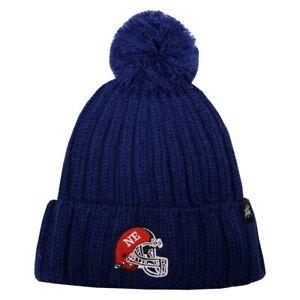 CityHunter New England Patriots Color Pom Pom Beanie Cuffed Helmet Thick Hat NEW