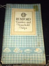 Rumford Dainties and Household Helps by Janet Hill. Rumford Chemical Works