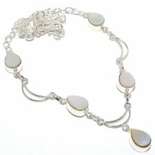 "Mother Of Pearl Gemstone Handmade Fashion Jewelry Necklace 18"" SN1528"