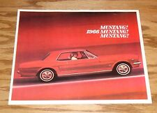 1966 Ford Mustang Sales Brochure 66 GT Fastback 2+2 Convertible Hardtop