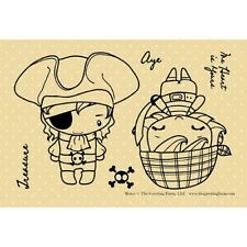 MATEY-The Greeting Farm Rubber Stamp-Stamping Craft-Anya/Ian-Pirate-RETIRED