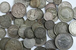 11.7 Troy Oz .500 Silver Content Coins Mixed Lot Assorted Countries Grades Coins