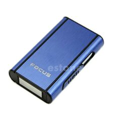 Blue Aluminum Pocket Cigarette Case Automatic Ejection Box Holder