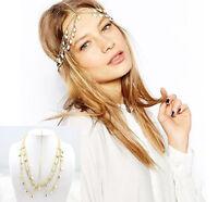 Fashion Women Jewelry Metal Rhinestone Beads Headband Head Chain Piece Hair band