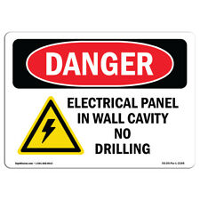 OSHA Danger Sign - Electrical Panel In Wall Cavity | Heavy Duty Sign or Label