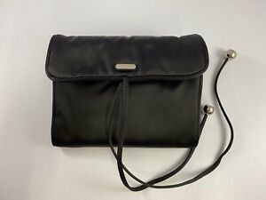 COACH Jewelry Holder Roll Black Satin With Ties NEW WITH TAGS