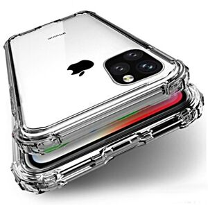COVER per Iphone 11 /Max Pro XI CUSTODIA Silicone TPU Clear Bordi Rinforzati