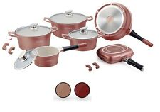 Hochwertiges Induktion Keramik Kochtopfset Kochtöpfe Kochtopf + Grill Pfanne