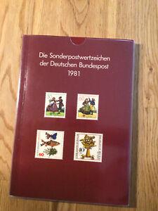 Jahrbuch 1981 - Die Sonderpostwertzeichen Bund und Berlin, komplett, postfr. **