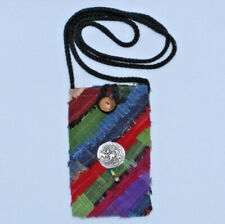 Hippy Style Elephant Mobile Phone Purse with long strap handmade in Thailand