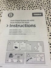 thule 4010 FITTING KIT FOR VAUXHALL ASTRA,ZAFIRA ,SIGNUM ETC