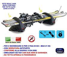 Portasci portasnowboard magnetico Menabo Aconcagua VOLVO V90 dal 2016-
