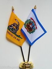 Gadsden & West Virginia Double Friendship Table Flag Set