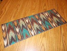 Southwest Aztec decoration MINI table topper Toilet Tank Topper teal brown