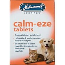 CALM EZE CALMING TABLETS NERVOUS DOGS CATS BOMBFIRE NIGHT GROOMING TRAVEL