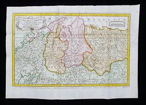 1754 J.N. BELLIN: NORTH SEA, SIBERIA, RUSSIA, CASPIAN SEA, GLACIAL SEA, MONGOLIA